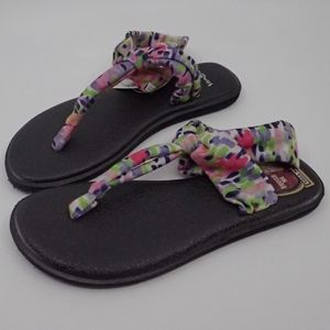 Sanuk Yoga Sling Colorful Prints Sandals 5 - NWT